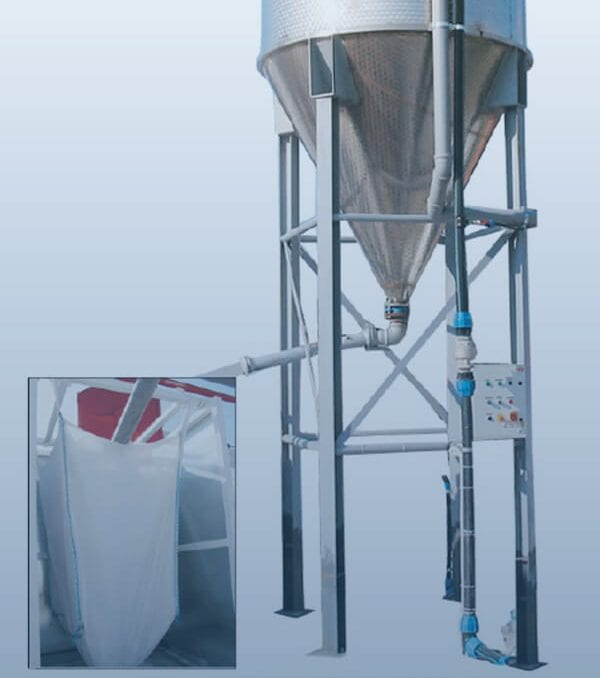 water clarifier filtering into bag
