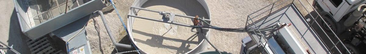 Concrete slurry dewatering wastewater