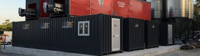 storage containers with cube filter press