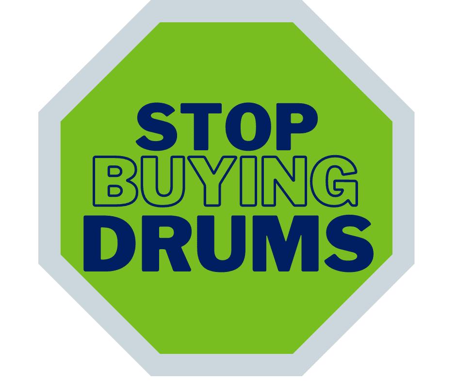 stop buying drums logo